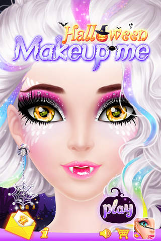 Screenshot 1 Make Up Me: Halloween - Girls Makeup,  Dressup and Makeover Game