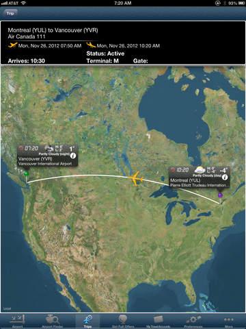 airport flight tracker toronto vancouver montreal calgary. Black Bedroom Furniture Sets. Home Design Ideas