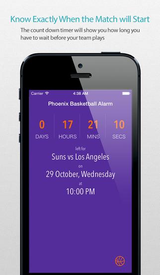 Phoenix Basketball Alarm Pro