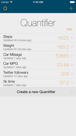 Quantifier Screenshots