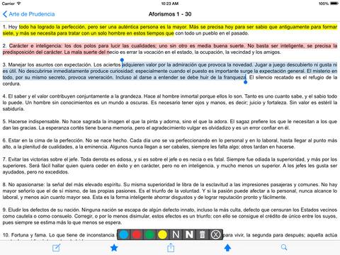 Oráculo manual y arte de prudencia iPad Screenshot 2