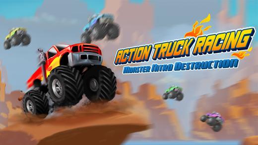 Action Truck Racing PRO - Monster Nitro Stunt Destruction HD
