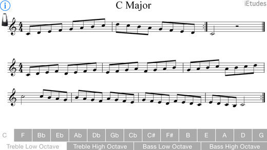 Major Scale Treble and Bass Clef Lite