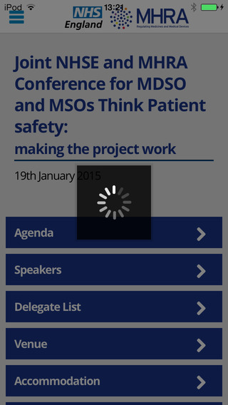 MHRA NHSE Conference 2015 Event Applcaition