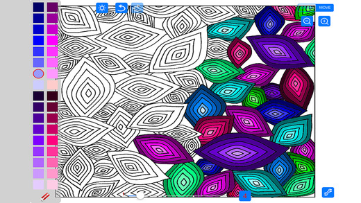 Coloring Advanced Free Tangles