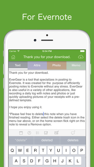 EverGear for Evernote