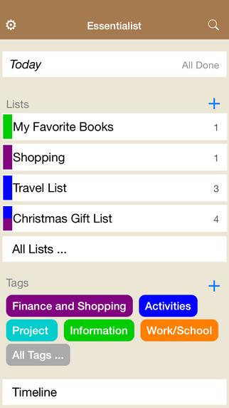 【免費生產應用App】Essentialist - Checklist, To-do List and Reminder for work, home and school essentials-APP點子