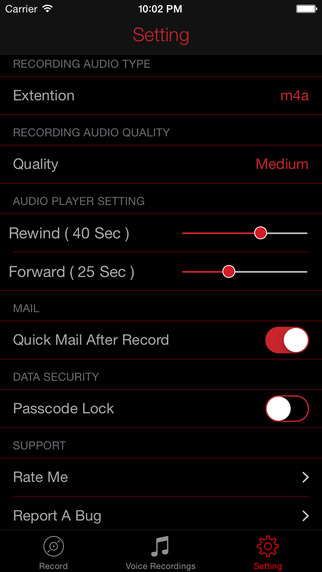 HD Recorder Pro : Audio And Voice Recording With Playback, Trimming And Sharing Screenshots