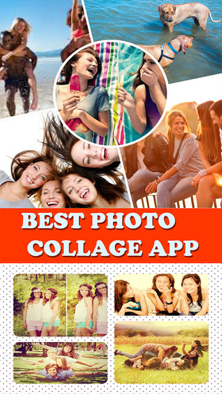 Photo Collage Maker and Editor - Make Stylish Foto Grid with Colorful Frame Pattern