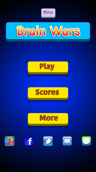 New Brain Wars : Fun Numbers and words trivia games - Share with Friends