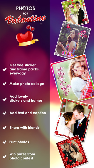 Photo for Valentine Free Photosticker Lovely Frame Picseffect for Valentinepicture foto