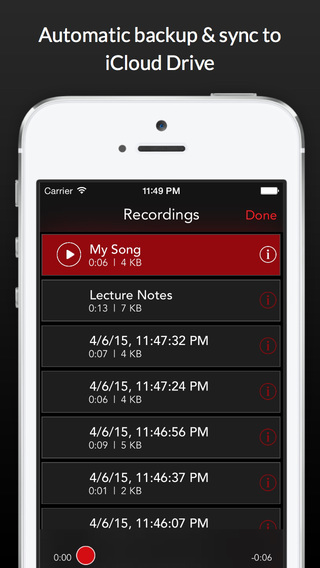 SimpleMic: Audio Recorder Notes Dropbox Voice Memos