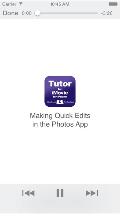 Tutor for iMovie for iPhone/iPod Touch iPhone Screenshot 4