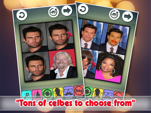 Makeup Transformation Photo Editor : Attractive Celebrity Parody Crop-per Effect-s Скриншоты9
