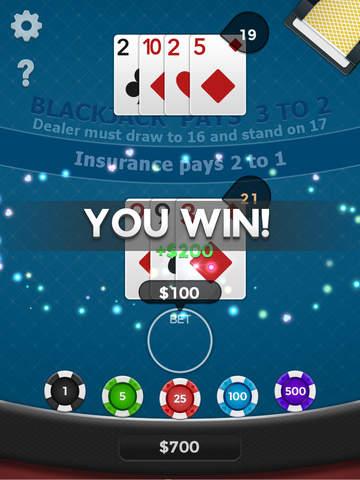 Blackjack 21 Free! screenshot