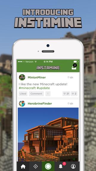 InstaMine - Social Network for Minecraft Skins Wiki Servers Mods More
