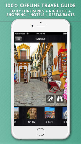 Seville Travel Guide with Offline City Street Maps