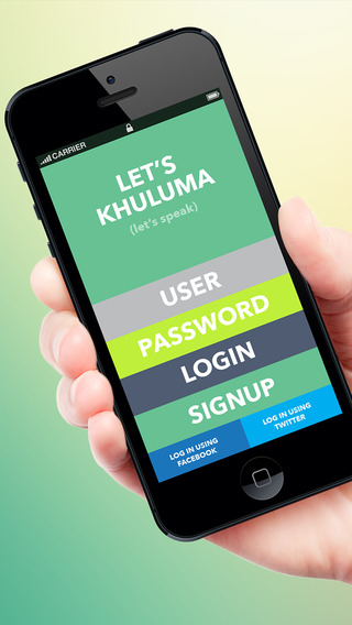 Khuluma - Choose Between 18 Different Notification Sounds Words or Phrases and Send it to an Individ