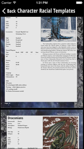 FSpace Roleplaying Concise Rulebook v4.2 iPhone Screenshot 3