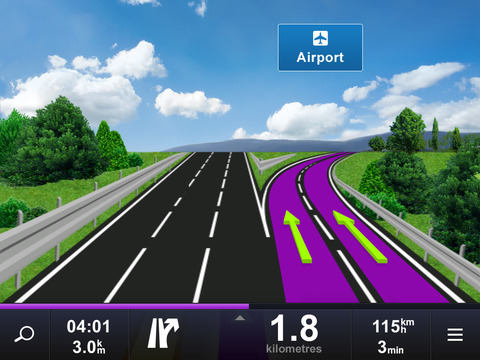 Sygic Aura Drive Nordics GPS Navigation iPad Screenshot 1