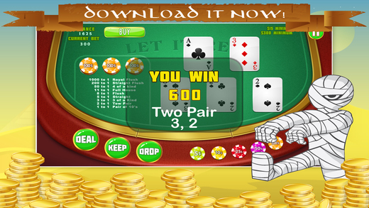 Nefertiti Let It Red Poker Empire HD - All Poker-style Vegas Casino Game