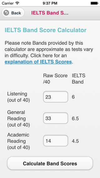 IELTS band score calculator