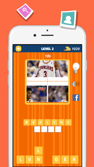 Quiz Word Basketball Edition - Guess Pic Fan Trivia Game Free