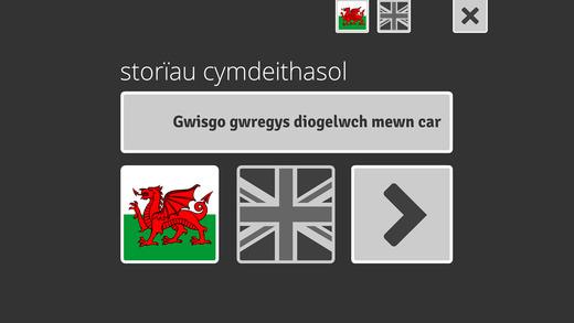 Gwisgo Gwregys Diogelwch mewn Car Wearing a Seatbelt in a Car