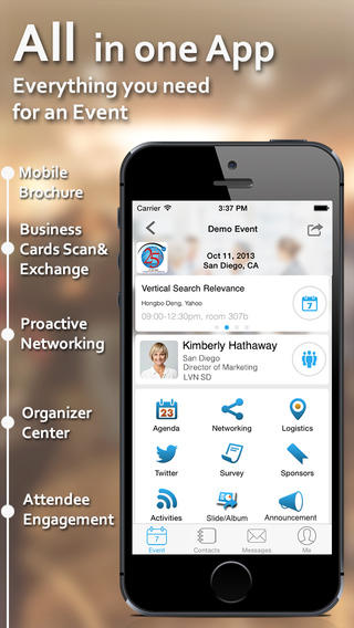 Whova - Intelligent Assistant for Event Networking and Insightful Business Card Reader