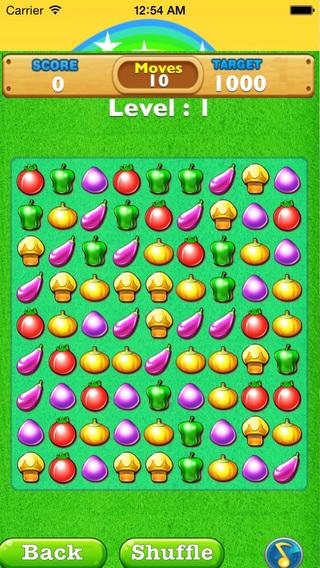 Farm Mania Crunch-Your veggie Strategy Puzzle