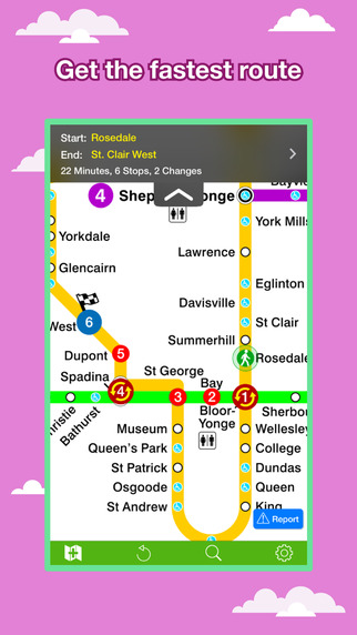 Toronto Transport Map - Subway Map and Route Planner. Screenshots