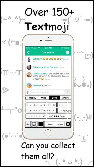 無料娱乐AppのTextmoji ⊂(◕‿◕⊂)|記事Game