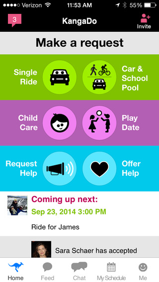 KangaDo Parent Assistant: Rides Childcare and Playdates