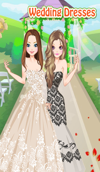 Wedding Dresses - Dress up and make up game for kids who love weddings and fashion