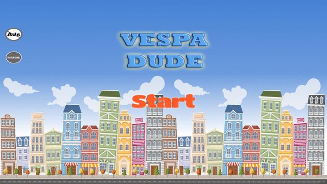 Vespa Dude - Free Bike Race Mill