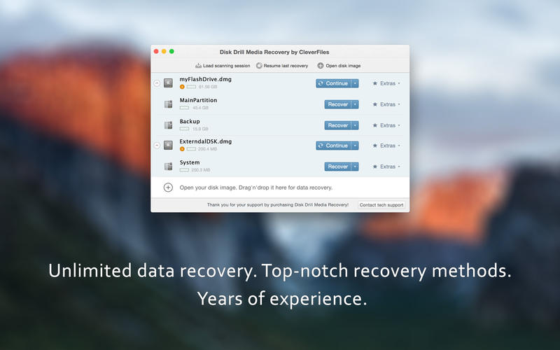 Disk Drill Media Recovery Screenshots