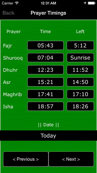 Qibla Direction Finder and Islamic Prayer Timings