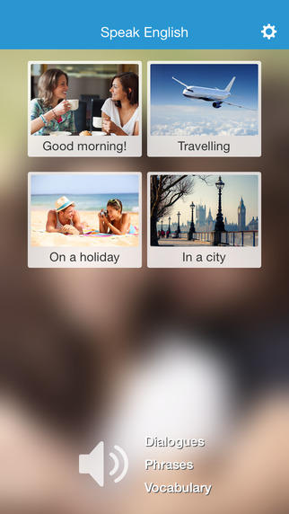 English speaking: learning English words and phrases with pictures and listening exercises