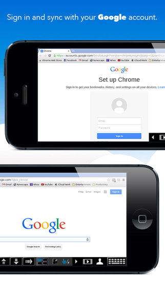VirtualBrowser for Chrome™ with Flash-browser, Java Player & Extensions - iPhone Edition Screenshots