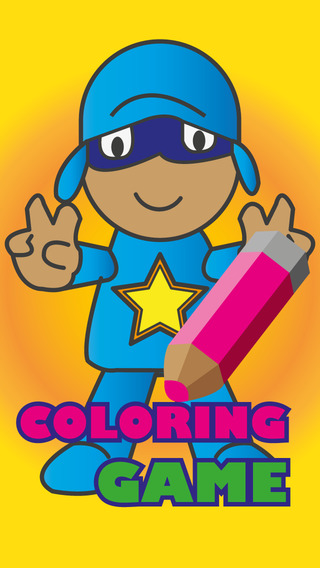 Finger Painting for Pocoyo Coloring Book Game