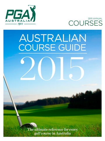 Course Guide of the PGA - 2015