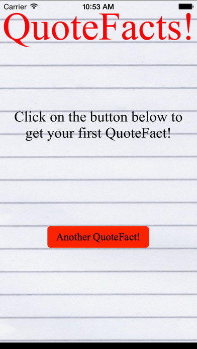 QuoteFacts! iPhone Screenshot 2