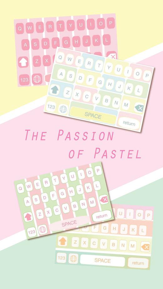 粉彩颜色的键盘 - 美丽可爱的设计主题