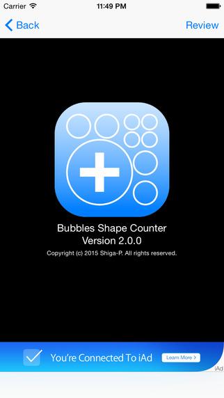 Bubbles Shape Counter