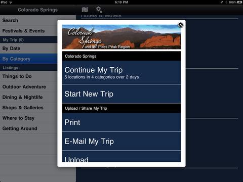 Colorado Springs Visitor Info for iPad