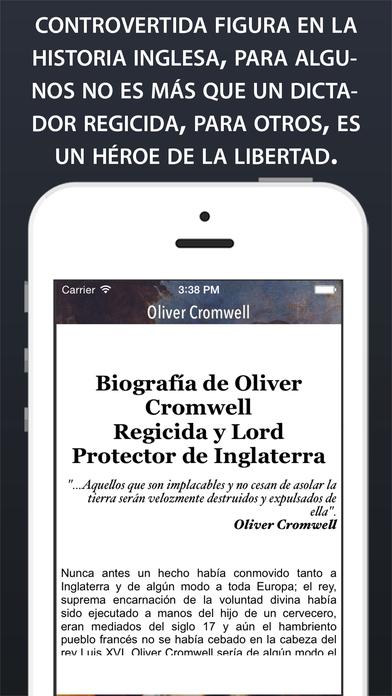 Oliver Cromwell iPhone Screenshot 2