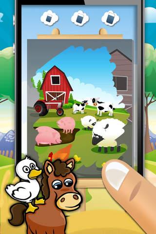 动物,农场,迷宫,拼图,游戏