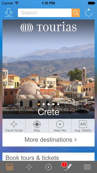 Crete Travel Guide - TOURIAS Travel Guide free offline maps