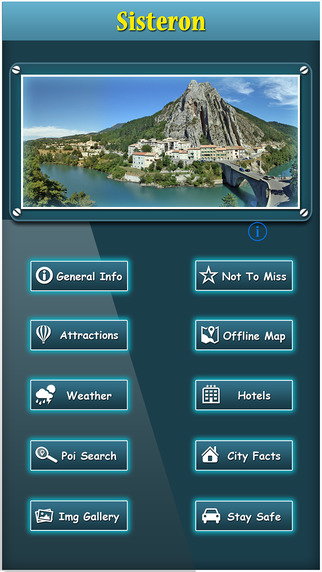 Sisteron Offline Map Travel Explorer