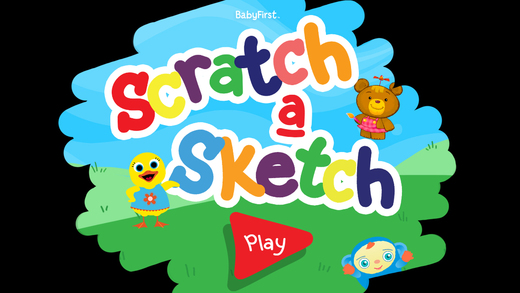Scratch a Sketch by BabyFirst - Engaging Amusing and Cheerful Art App with Cute Drawings for Babies